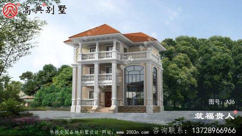 经典的三层复式别墅设计图,房屋建筑设计图