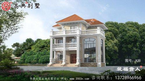 精致的欧式三层自建别墅设计图