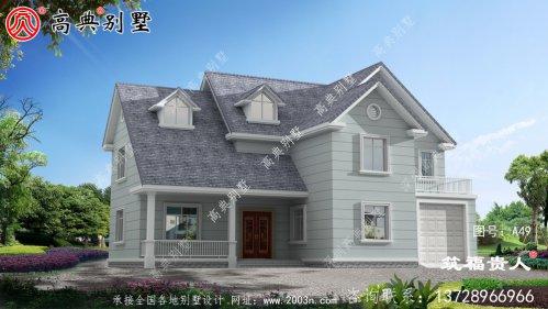 时尚欧式三层农村自建别墅设计图纸,含有别墅