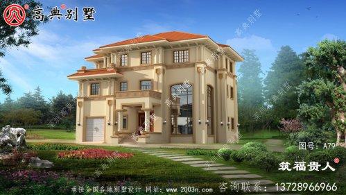 美观大方的意大利风格别墅设计图,房屋建筑图