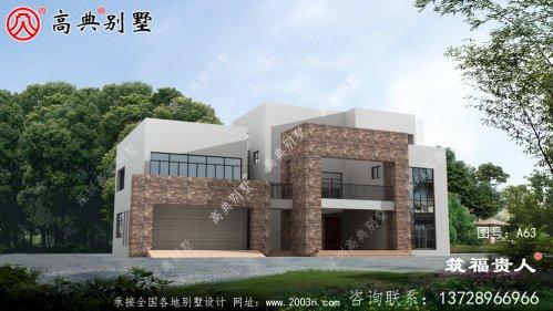 现代风格两层别墅设计图,經典独栋别墅