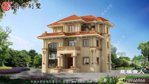 欧式风格三层复式别墅设计图,样式新奇
