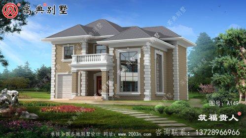 高档复式两层自建别墅设计图纸,独栋别墅