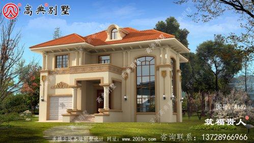 精品欧式两层复式别墅设计,采光良好。
