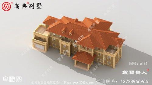 经济实用的三层欧式风格住宅设计图