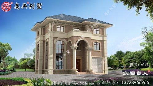 欧式法式三层别墅设计图,高端大气