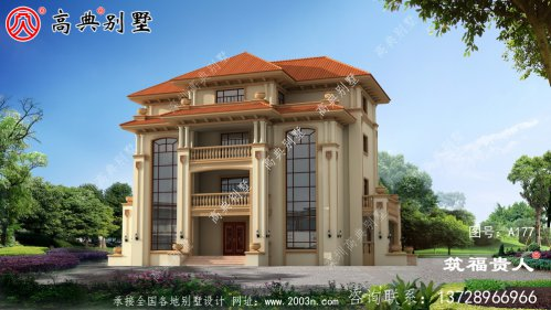 精典四层意大利风格别墅设计图