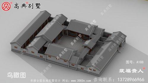 传统北京四合院三进四合院,院子别墅