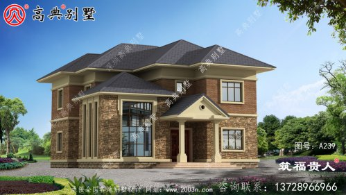 高品质两层自建住宅设计图,漂亮实用的欧式别
