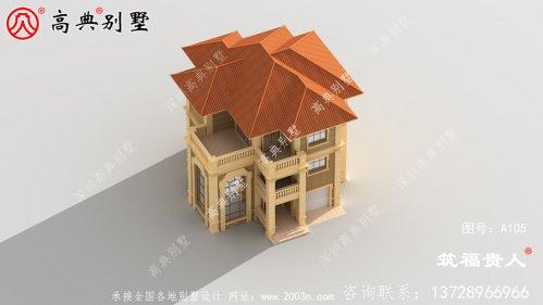 欧式三层农村自建别墅设计图纸