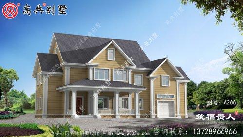 两层别墅设计图,拥有室内车库,拥有美丽精致
