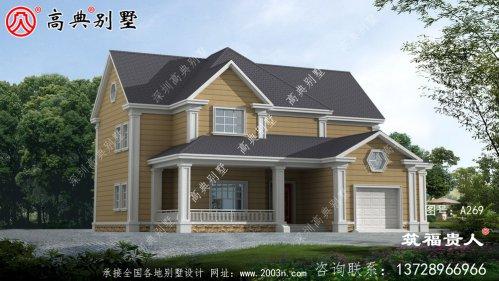 精品两层别墅设计图,美观精致,采光良好