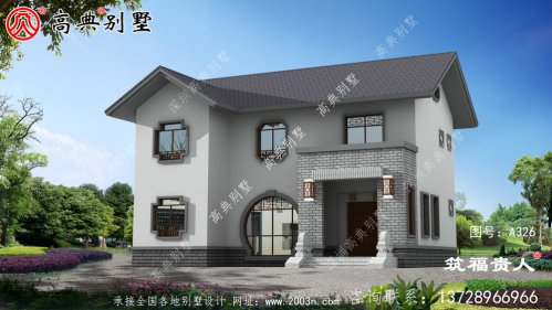 精美二层建造房屋设计图,光照自然通风优良。