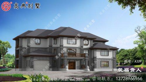三层建造奢华别墅设计图,高大上,經典独栋别