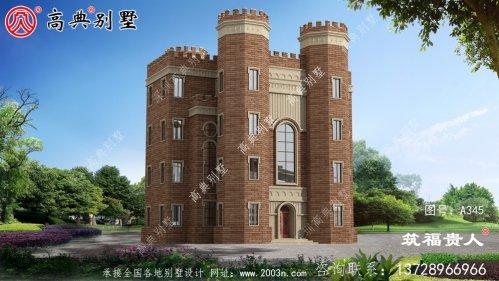 城堡式别墅简约别墅外观设计,大众户型