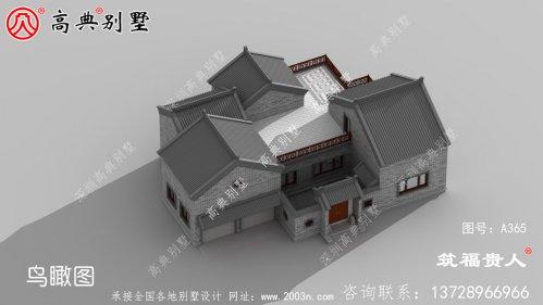 单层新中式农村自建别墅设计图纸,宏大壮阔