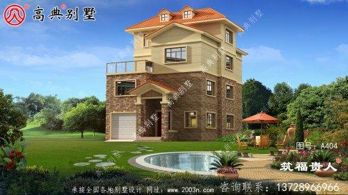 精致的四层别墅设计图,具有室内车库温馨的户