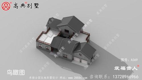带有室内车库的单层中式自建别墅设计图美观、