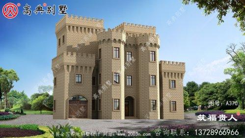 四层建造别墅设计图,拥有室内车库,高级大气