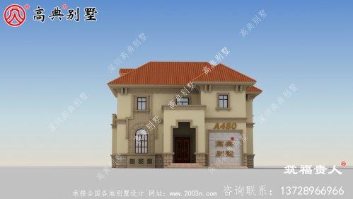 两层欧式双拼别墅设计图,带车库,高大上