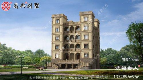 西式城堡别墅,经济实用的六层别墅设计图,布局齐全