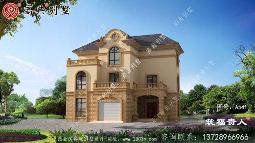 欧式三层单户别墅设计,布局合理,外观精美。