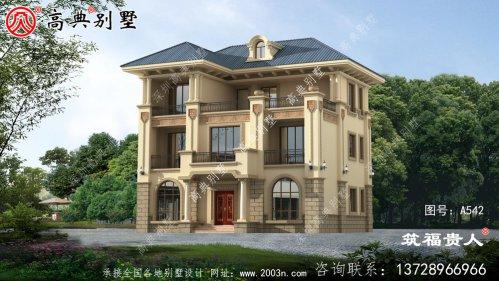 意大利风格三层别墅设计图,精致美观