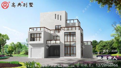 现代风格简单精致的四层别墅设计图,经济实用
