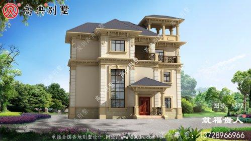 法式三层自建别墅设计,端庄典雅,简约大气,