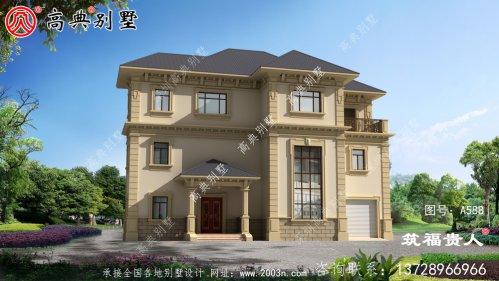 带室内车库美丽实用的三层小别墅设计图