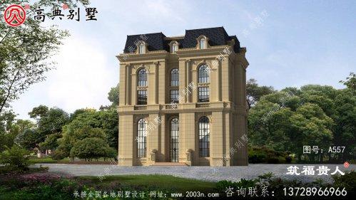 五层农村自建别墅设计图纸,宏大壮阔,平屋顶别墅