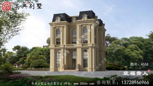 五层法式风格自建别墅设计,宏伟、高端大气