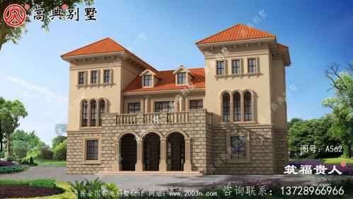 三层自建别墅精细设计图,农村自建住宅