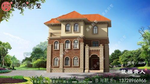 新欧式风格三层小别墅设计图,样式新奇
