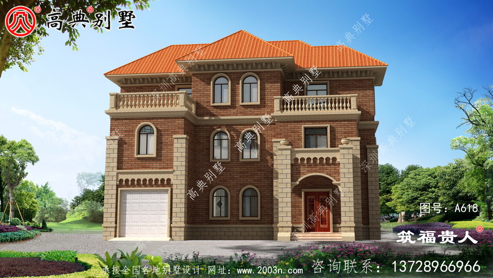 精致的三层小别墅设计图,理想房屋图片