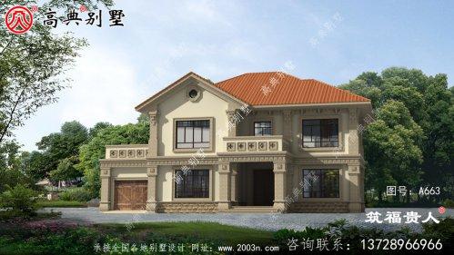 两层农村自建别墅设计图纸,新中式风格,简约