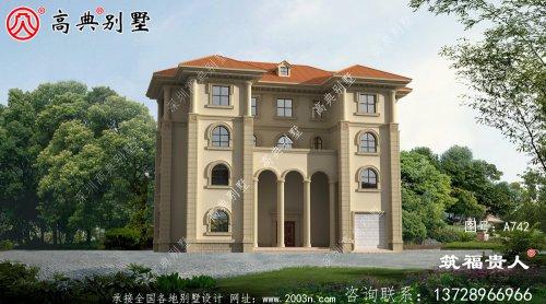 四层豪华别墅设计图,法式风格别墅
