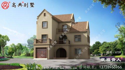 三层自建英式风格别墅设计图