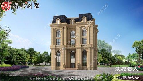 欧式五层别墅设计,高端大气