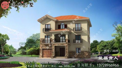 欧式三层自建别墅设计图,端庄典雅
