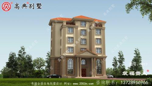欧式风格六层别墅设计图,适合一大家人。