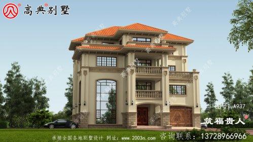 欧式独栋别墅设计图,设计高端