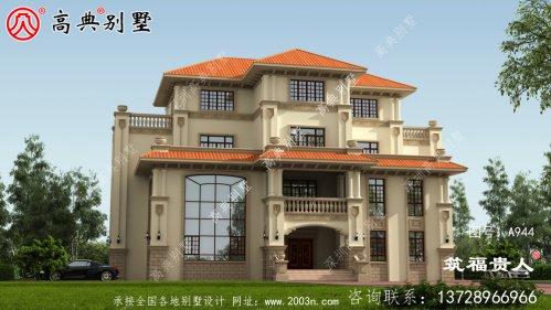 非常漂亮的欧式风格自建房屋设计图
