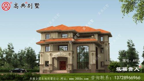 坡屋三层欧式风格别墅设计图片