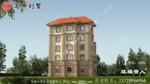 五层简欧风格别墅设计图,外型简约光亮