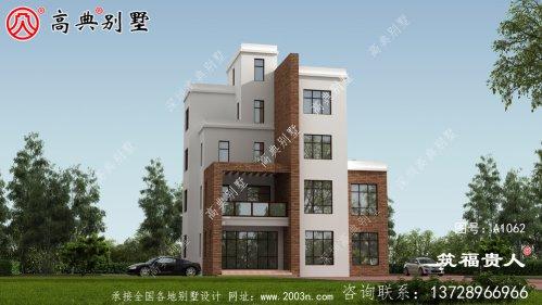五层现代风格房屋设计图,平屋顶别墅