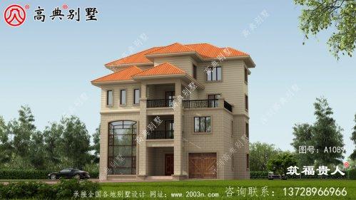 四层小型别墅外观效果图