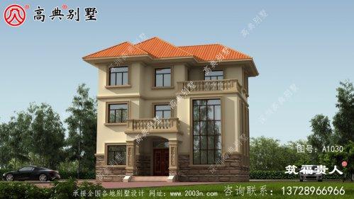 三层乡村别墅设计图,外型简约大气
