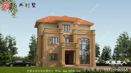 欧式风格自建三层楼房设计图