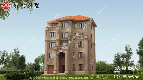 五层农村别墅设计图大全,外观宏伟